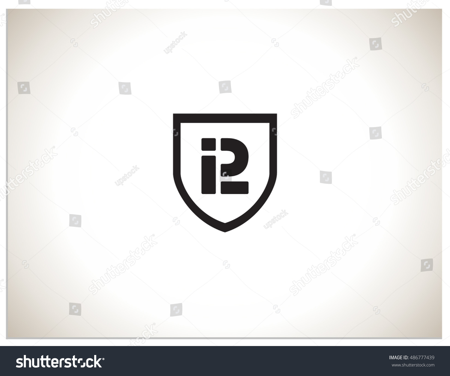 Text logo which consists connected abbreviations stock vector text logo which consists of connected abbreviations p and l in shield isolated sign symbol buycottarizona Gallery
