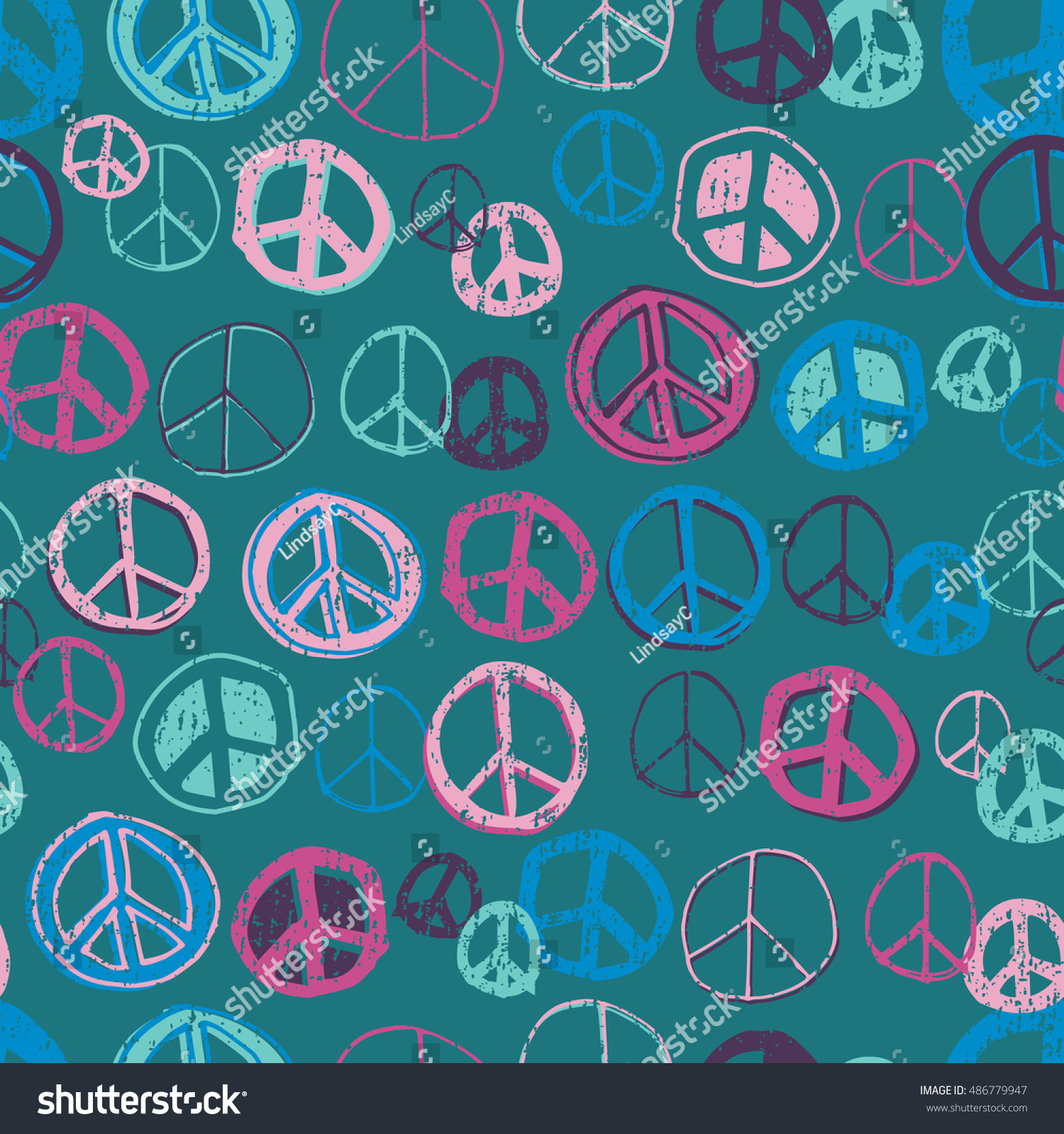 Fun Cute Hand Doodled Peace Sign Stock Vector (Royalty Free ...