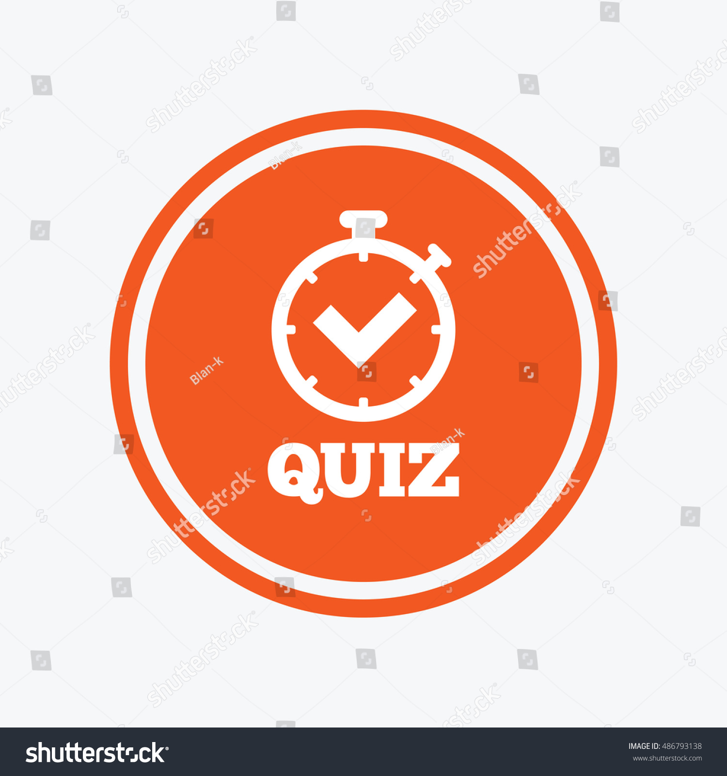 Quiz Timer Sign Icon Questions Answers Stock Vector Royalty Free