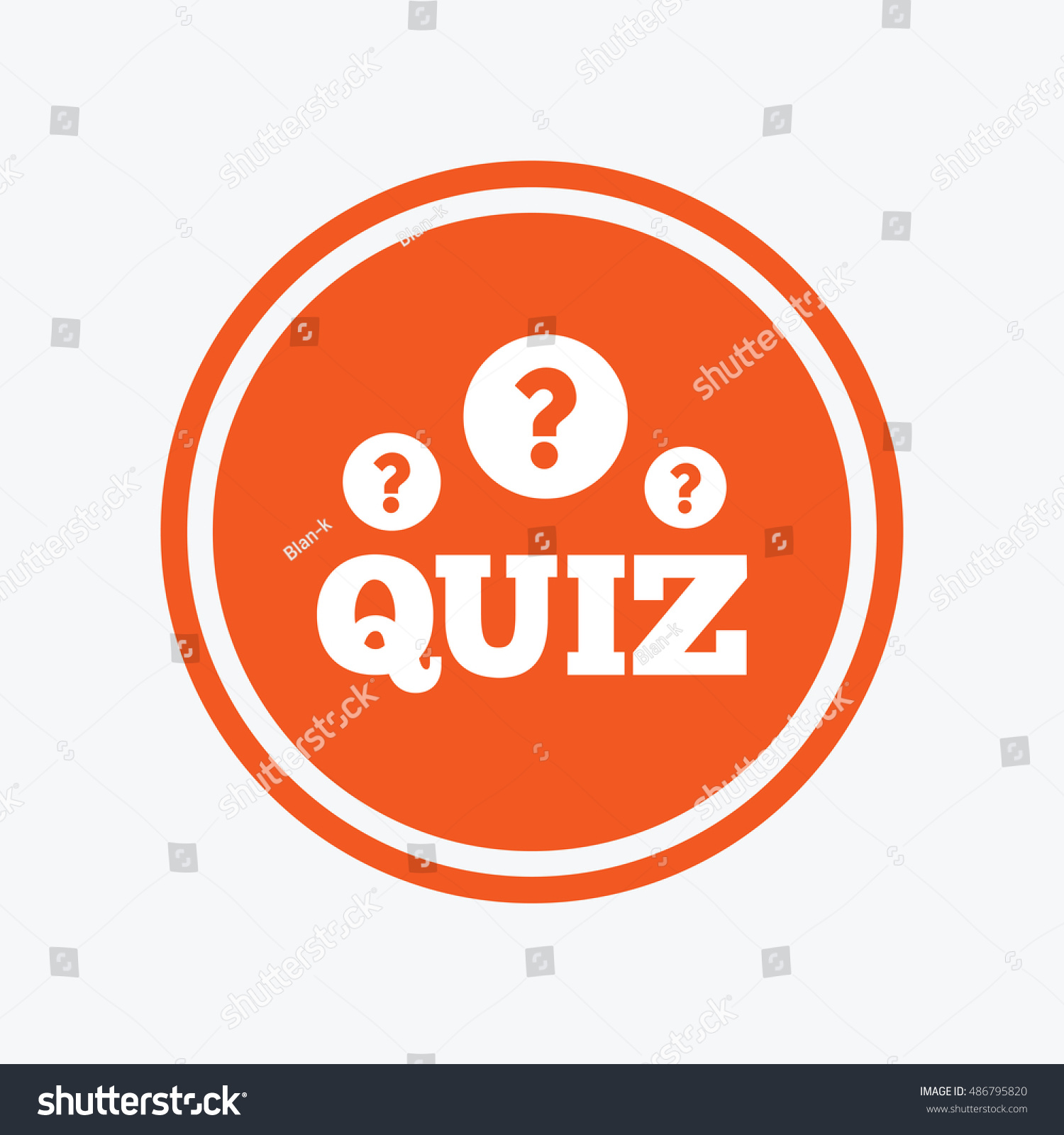 Quiz Question Marks Sign Icon Questions Stock Vector 486795820