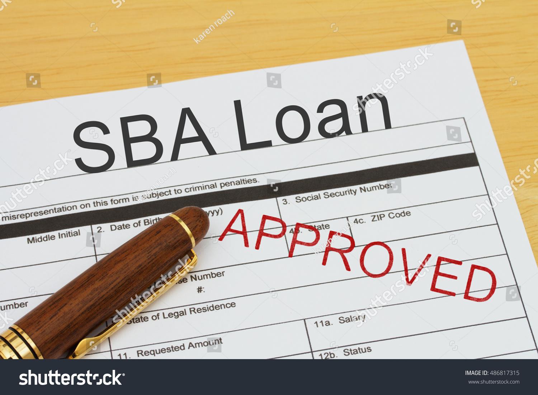 Applying Sba Loan Approved Sba Loan Stock Photo 486817315 ...