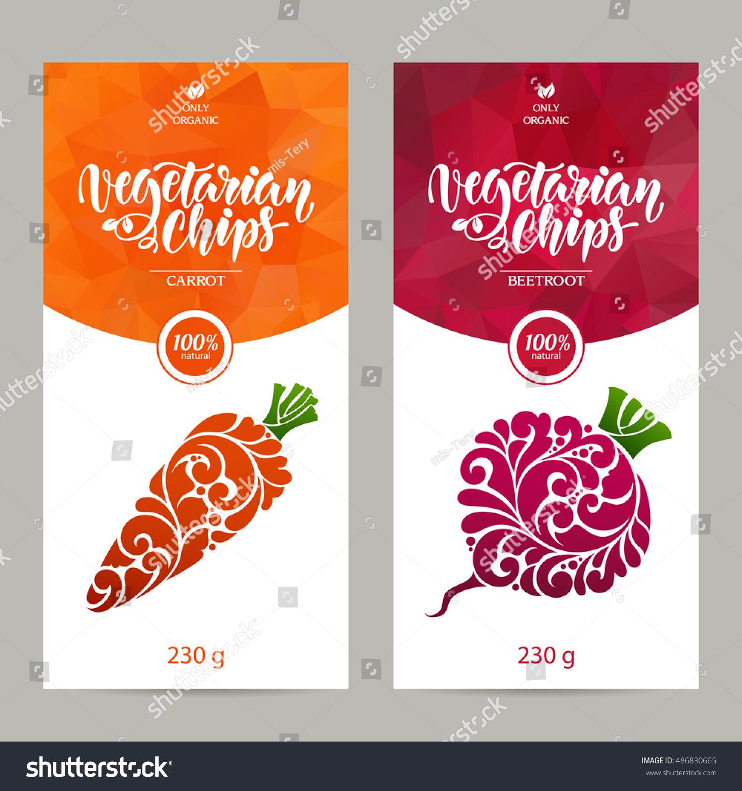 vector set templates packaging vegetarian food stock vector royalty