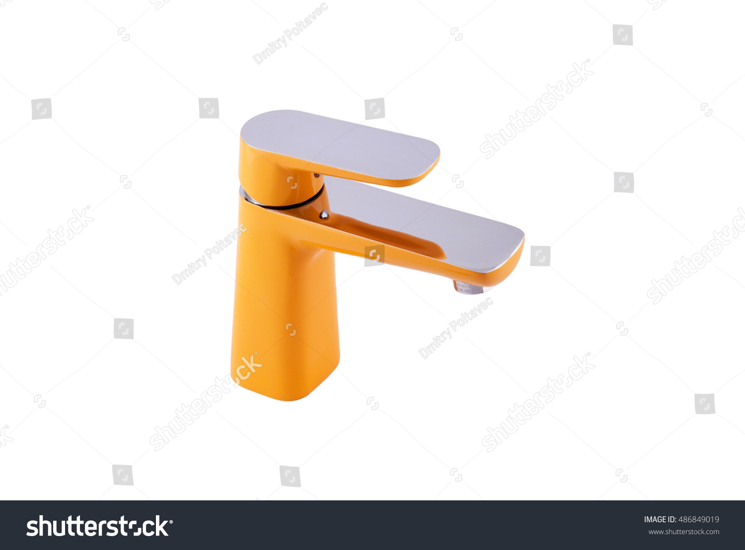 Orange Water Faucet On White Background Stock Photo 486849019 ...