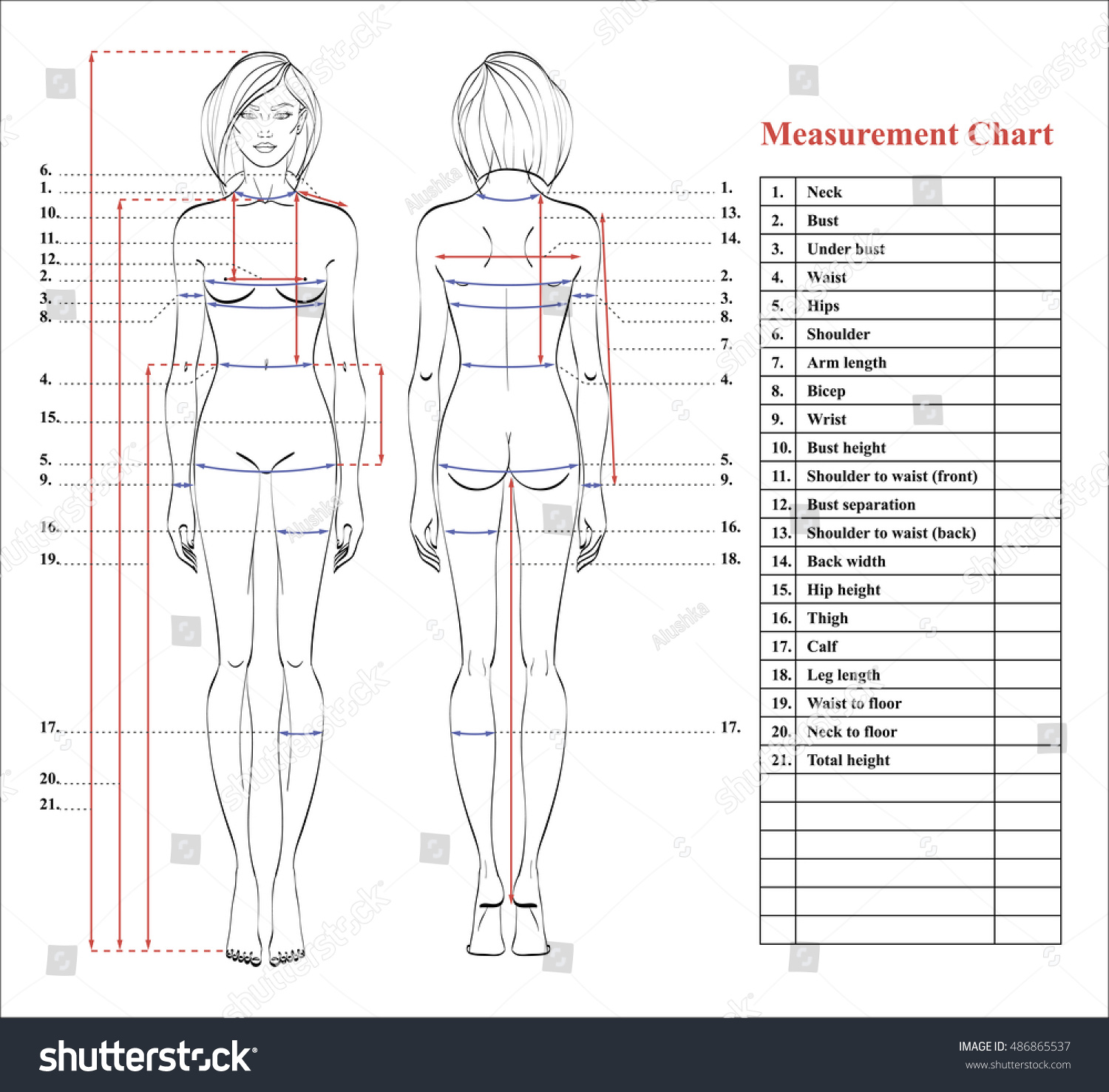 how to take body measurements for sewing
