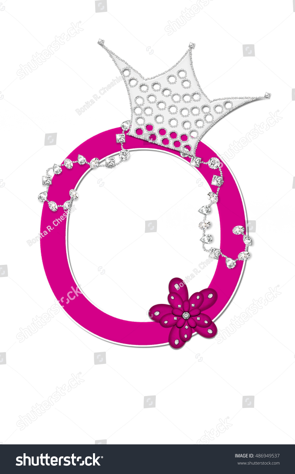 Letter O Alphabet Set Pageant Queen Stock Illustration - Royalty ...