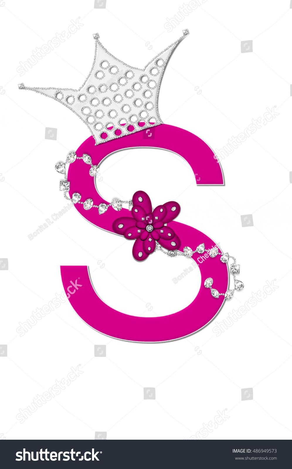 Letter S Alphabet Set Pageant Queen Stock Illustration - Royalty ...