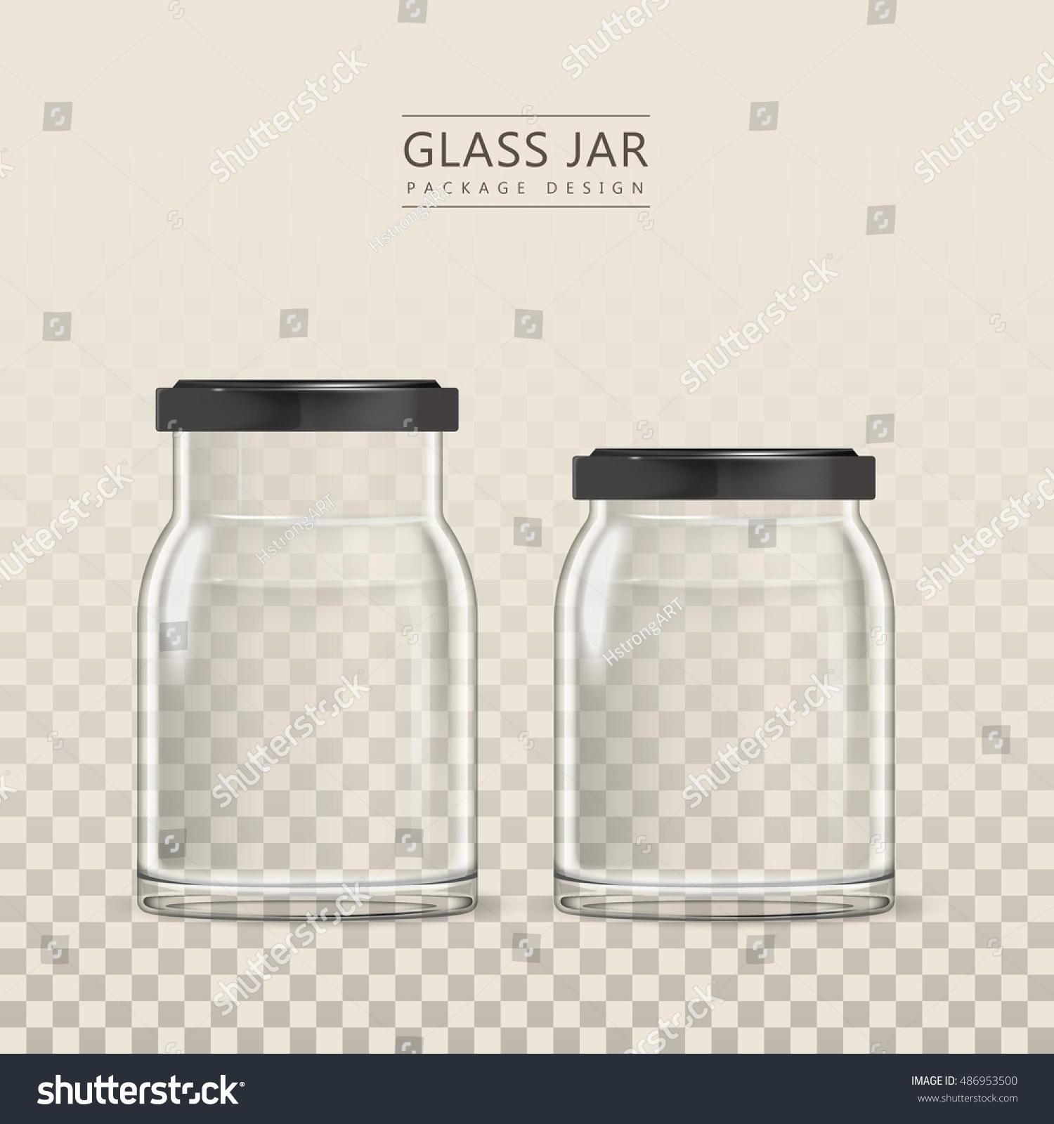 Empty Glass Jar Template 3 D Illustration Stock Vector (Royalty Free ...