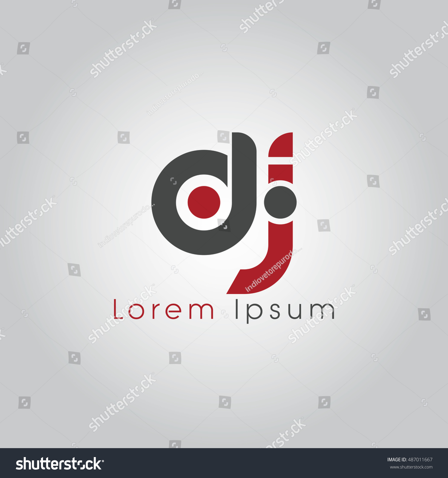 Dj Initial Letter Linked Lowercase Logo Stock Vector (Royalty Free ...