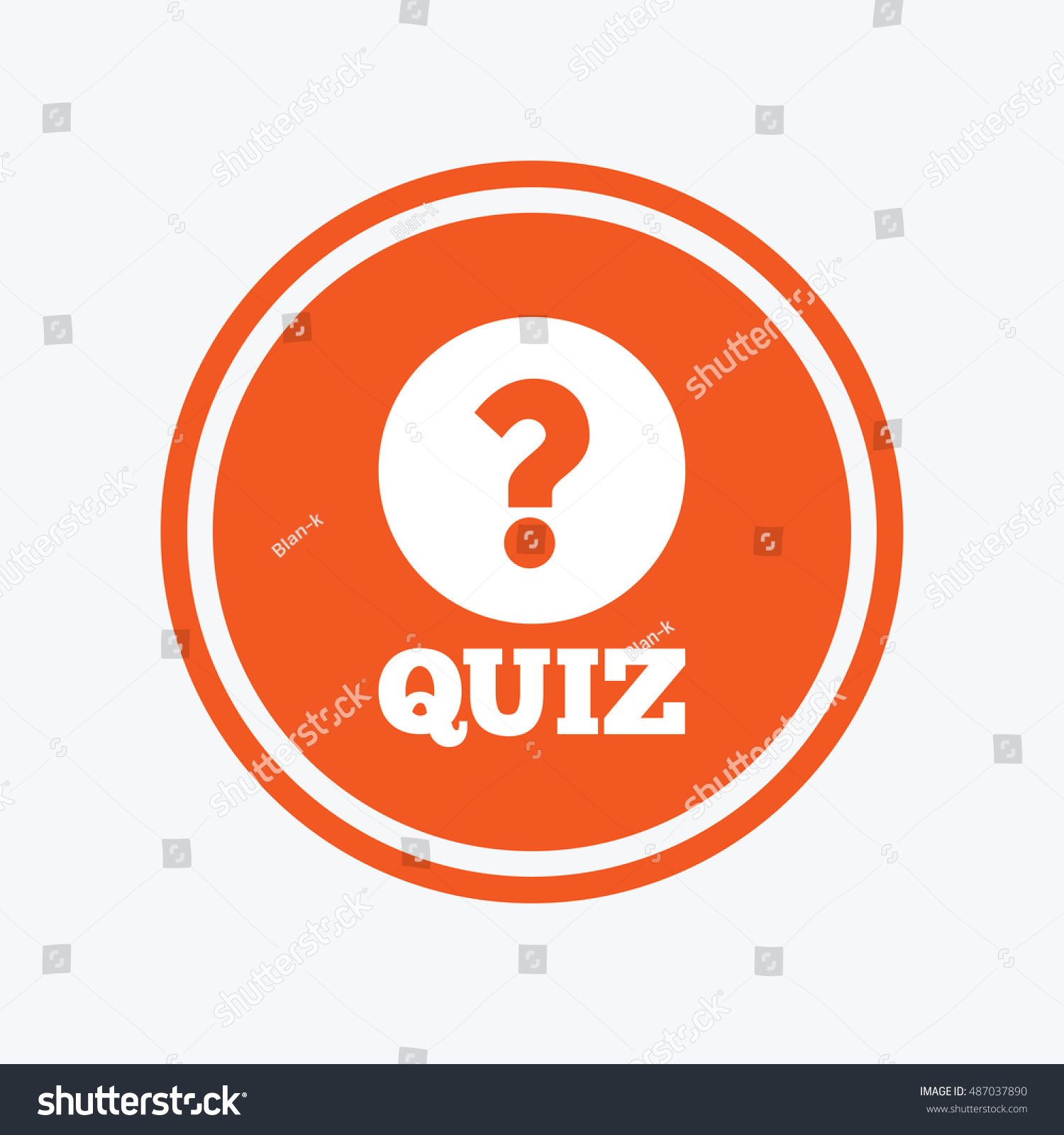 Quiz Question Mark Sign Icon Questions Stock Vector 487037890