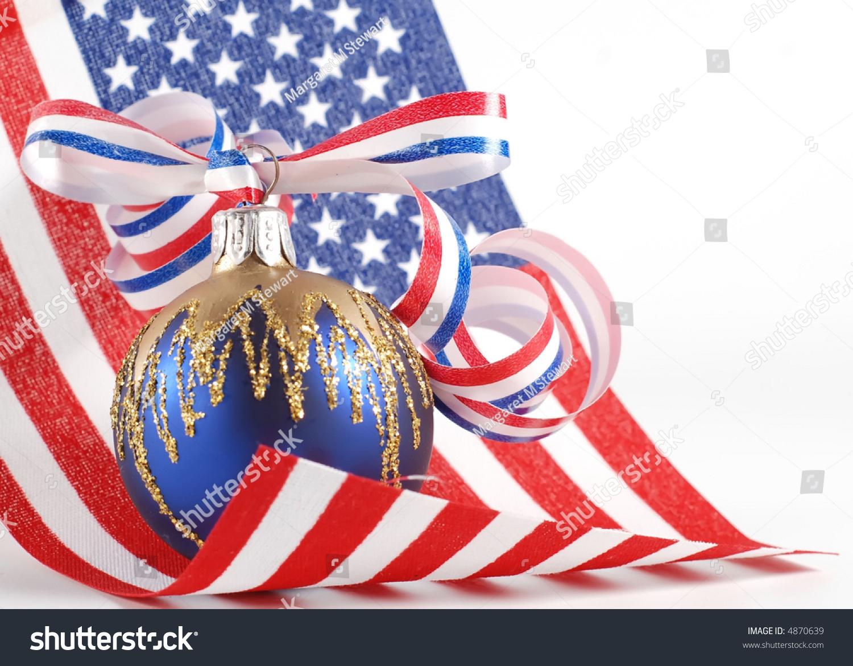 Patriotic Christmas Theme Stock Photo 4870639 : Shutterstock