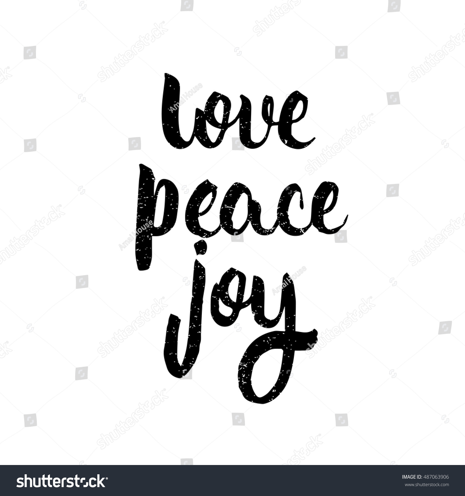Peace Love Joy Quotes Love Peace Joy Quote Ink Hand Stock Vector 487063906  Shutterstock