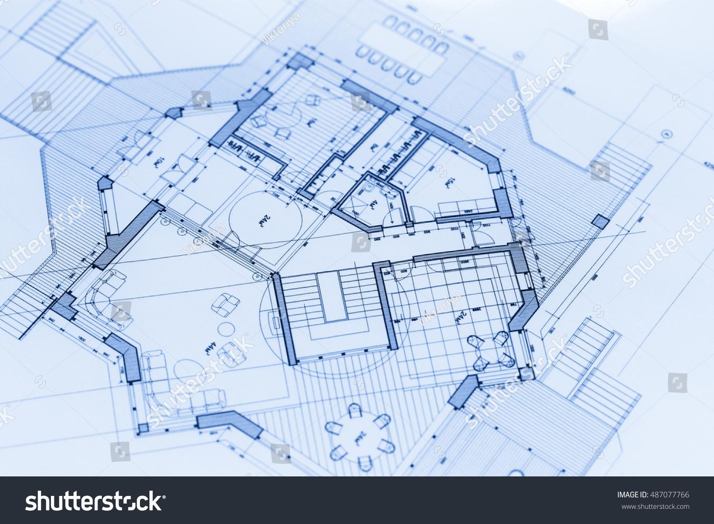 Architecture blueprints house plans stock photo for Architecture design blueprint