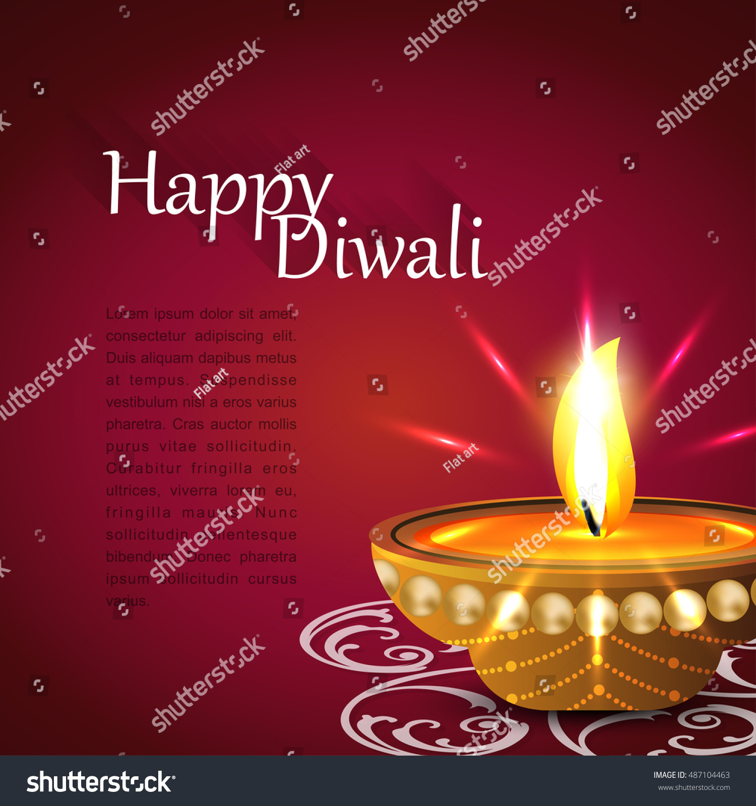 Indian festival lights happy diwali greeting stock vector royalty indian festival of lights happy diwali greeting card ancient hindu festival of lights m4hsunfo