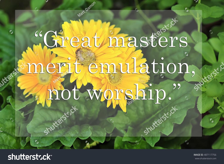 Photo Yellow Flower Background Motivational Quotes Stock Photo Edit