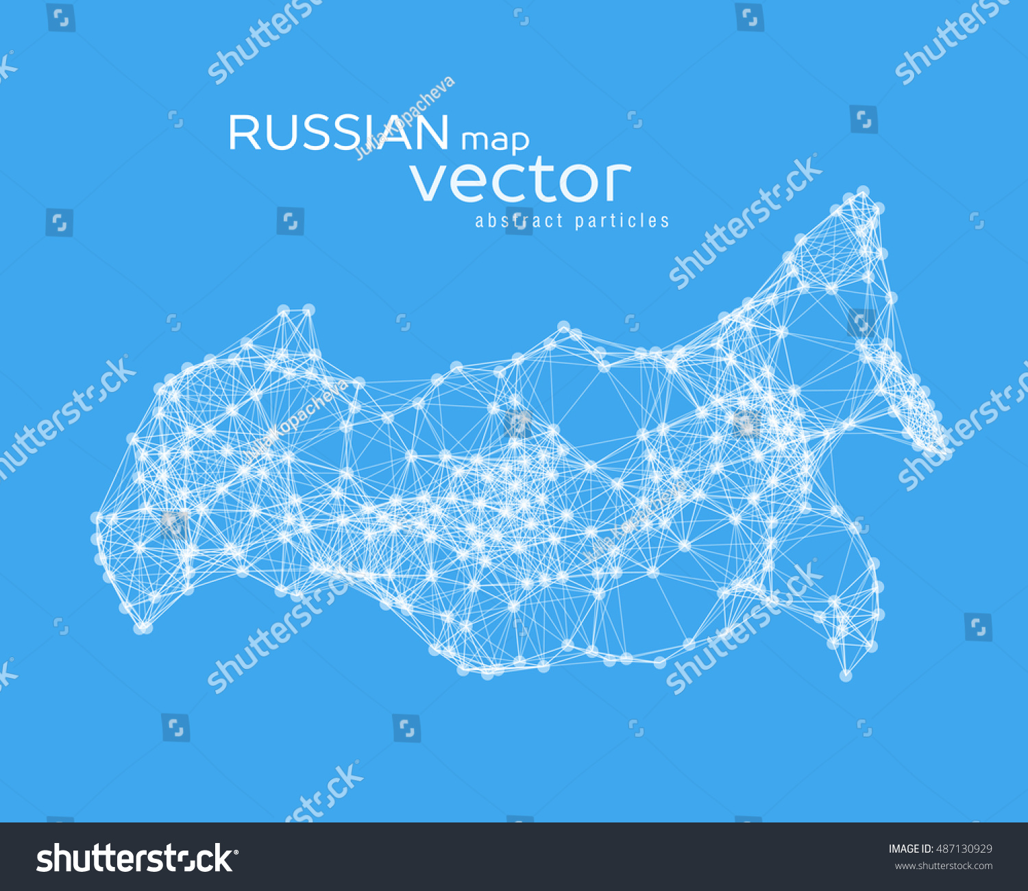 Vector Abstract Illustration Russian Map Eps Stock Vector - Russian map