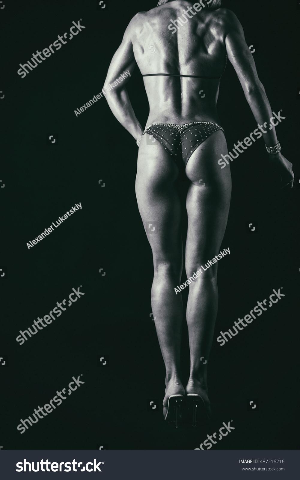 beautiful athletic ass closeup stock photo (royalty free) 487216216