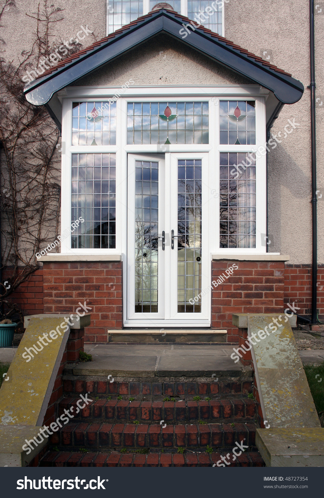House Entrance Enlosed With A Upvc Porch Stock Photo 48727354 ...