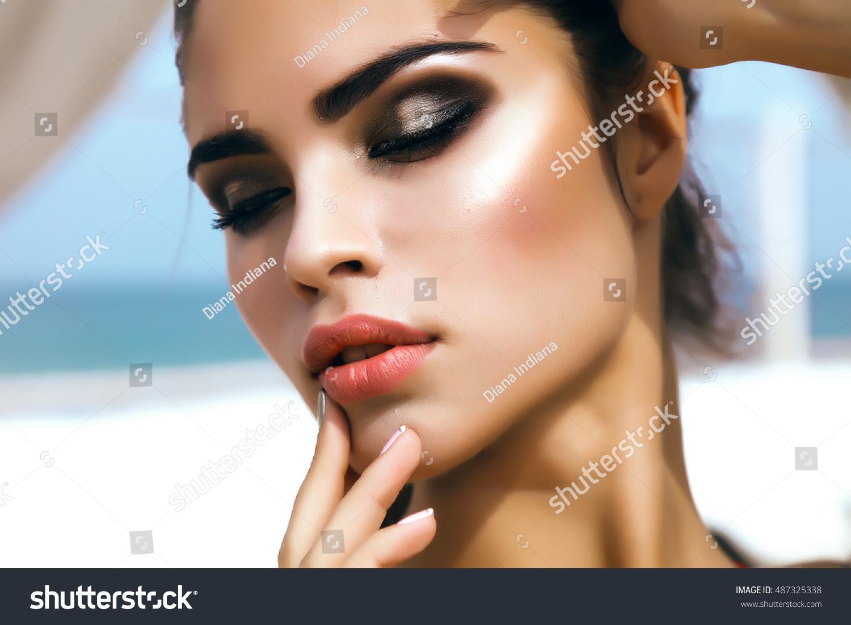 Beauty Fashion Woman Lips Natural Makeup Stock Photo (Safe to Use ...