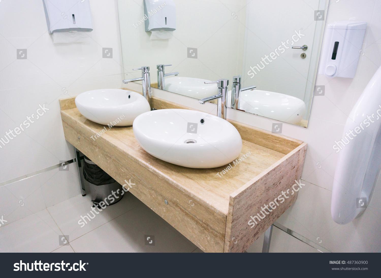Modern Bathroom Sink Restaurant Stock Photo (Edit Now)- Shutterstock
