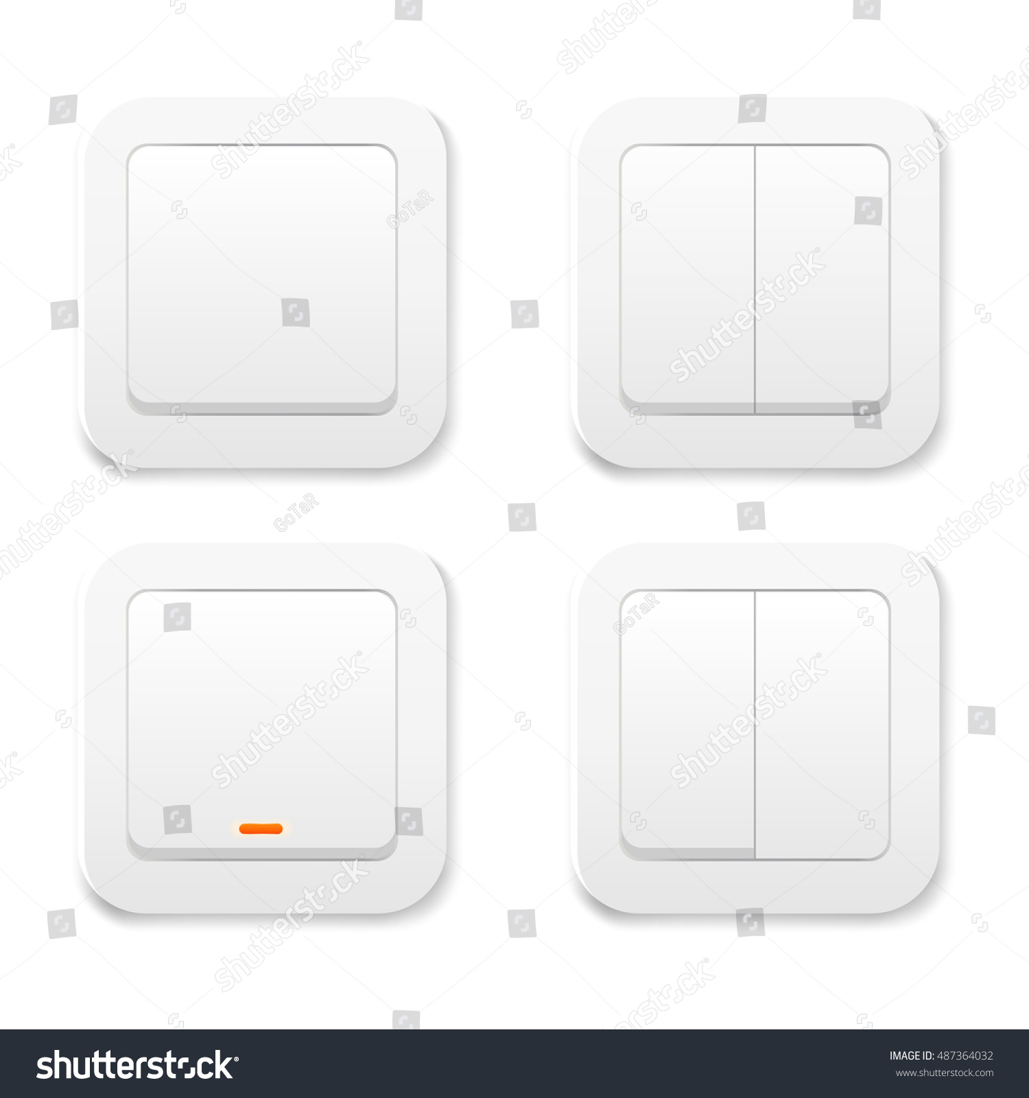 Light Switch Icon On Off Vector