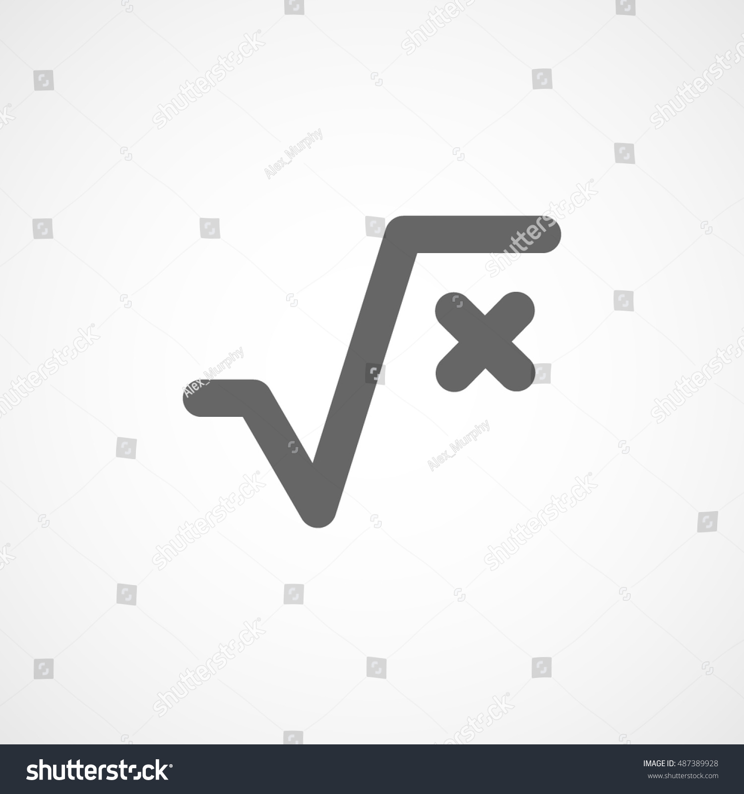 Square root flat icon on white stock vector 487389928 shutterstock square root flat icon on white background biocorpaavc