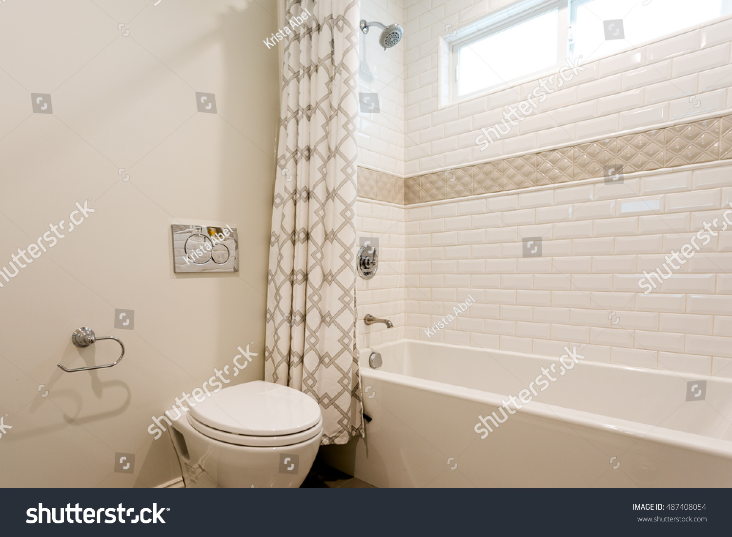Clean Bathroom Tiles Stock Photo (Edit Now) 487408054 - Shutterstock