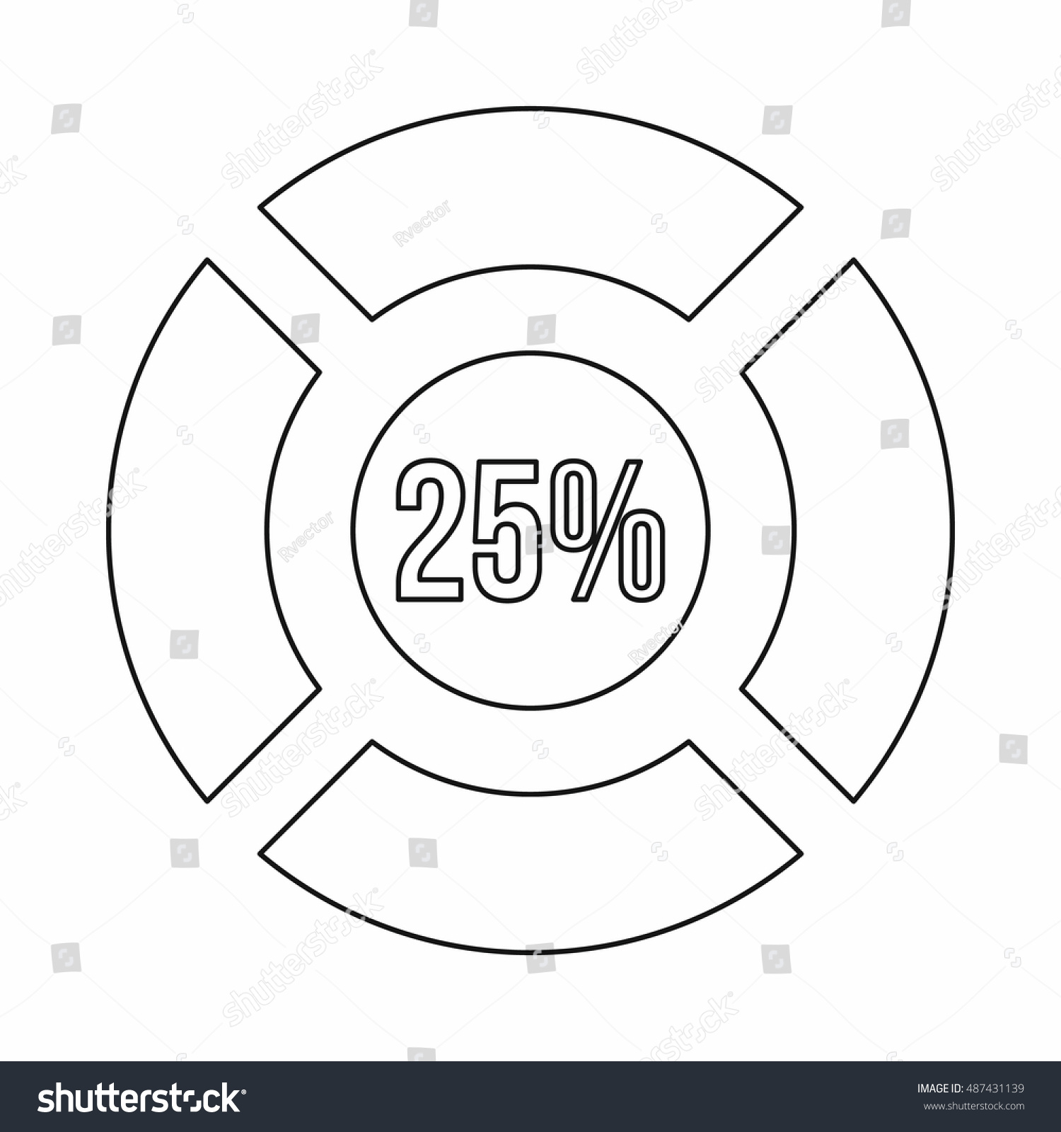 Sign 25 load icon outline style stock illustration 487431139 sign 25 load icon in outline style isolated on white background loading symbol biocorpaavc Image collections