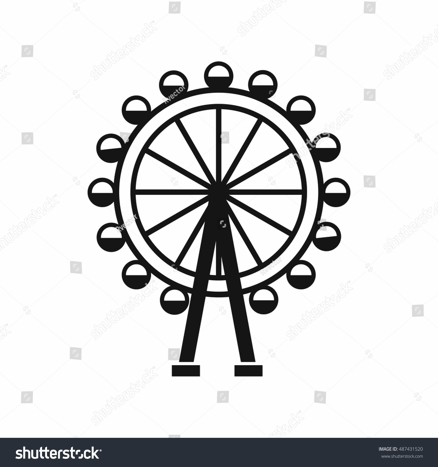 Ferris wheel icon simple style isolated stock illustration ferris wheel icon in simple style isolated on white background entertainment symbol biocorpaavc