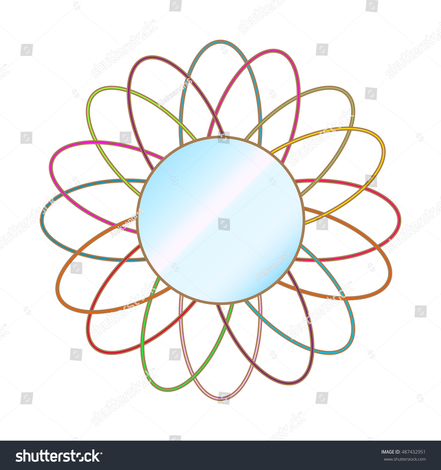 Vector illustration wall circle mirror on stock vector 487432951 vector illustration of a wall circle mirror on a white background witch colorful fram amipublicfo Gallery