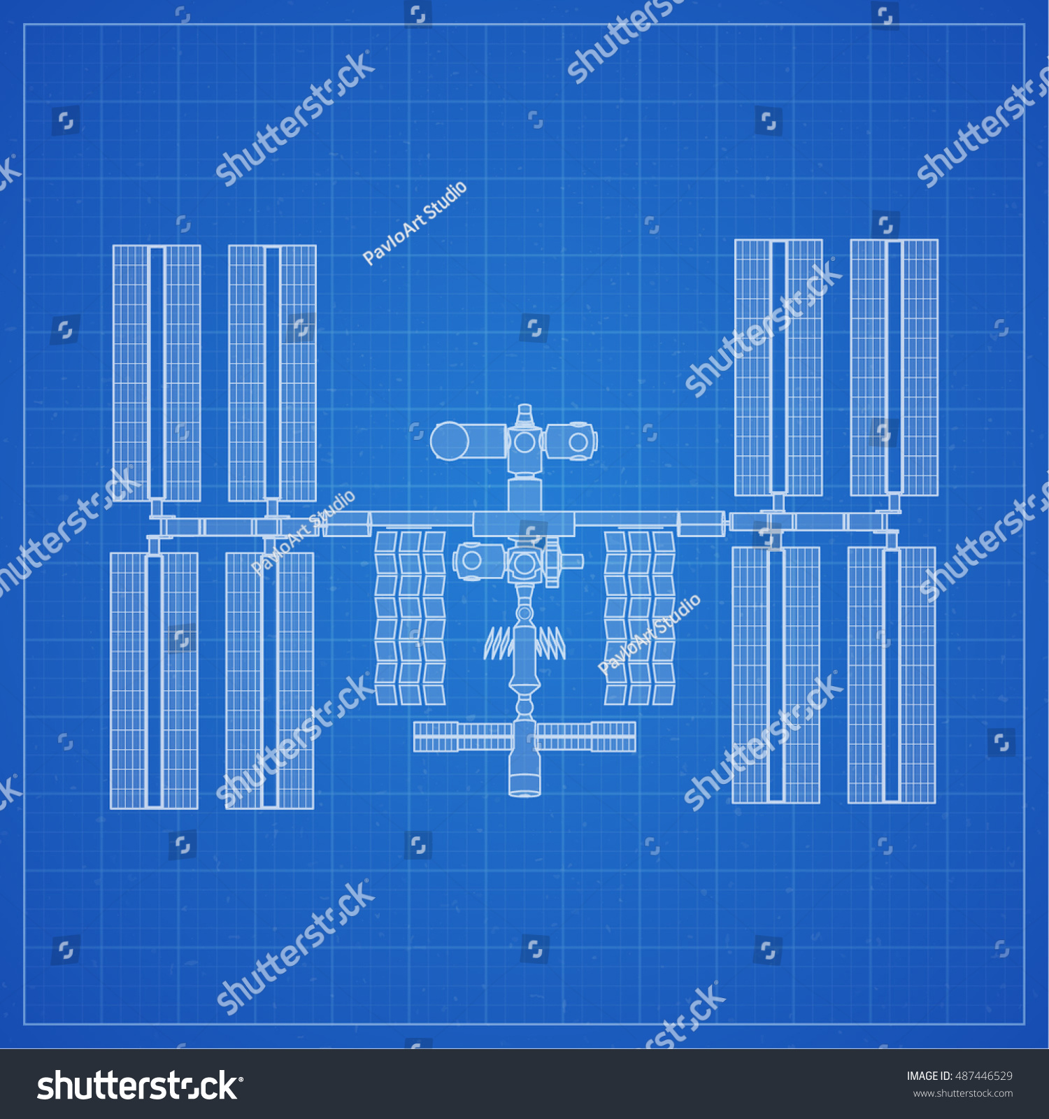 stock vector international space station plot on blueprint background vector illustration 487446529 international space station plot on blueprint stock vector (royalty