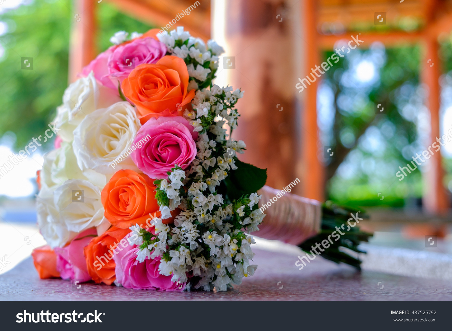 Elegant Bouquet Of Roses On The Background Of Other Flowers Ez Canvas