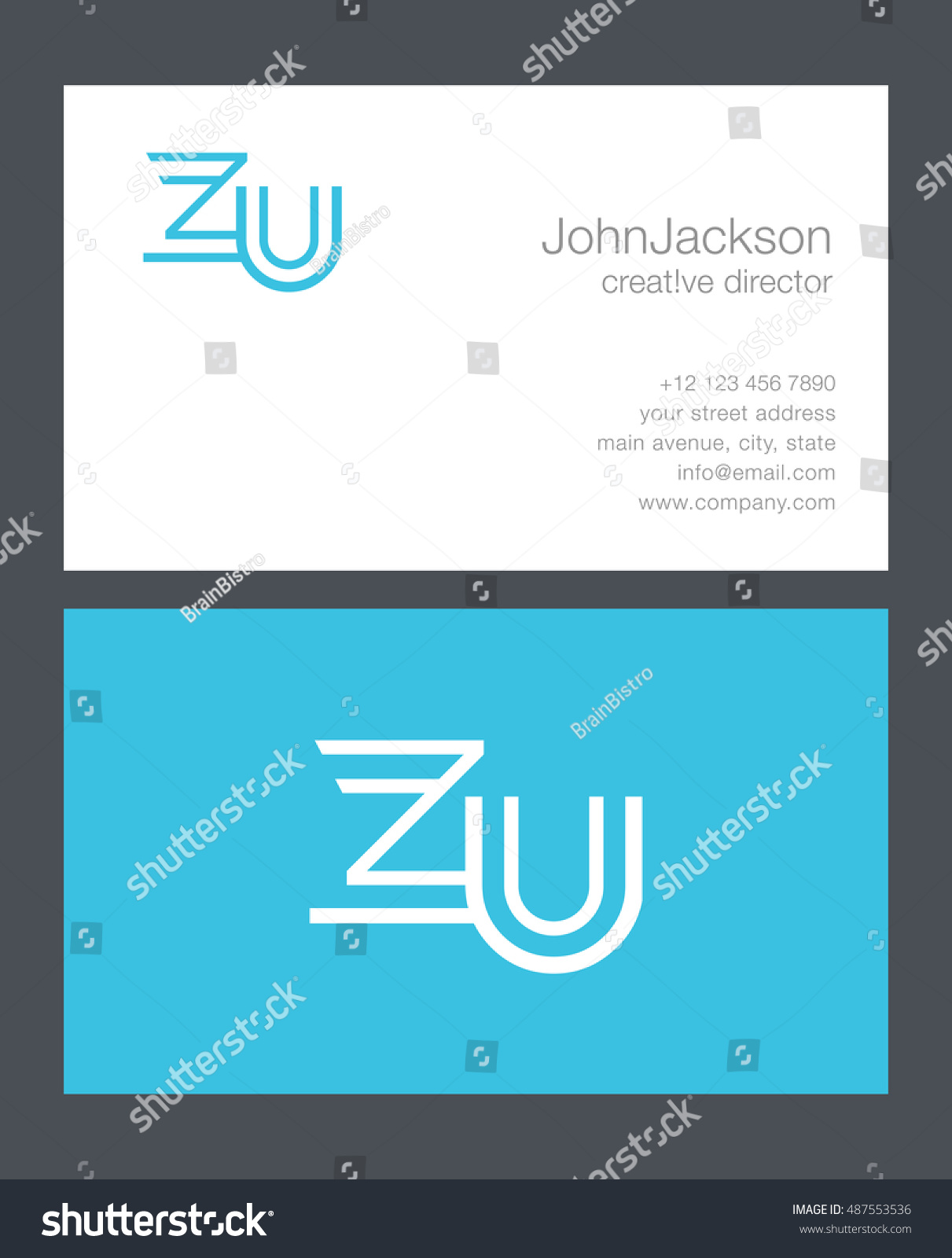 Great 1 Page Resumes Small 10 Envelope Template Indesign Round 100 Day Plan Template 10x13 Envelope Template Youthful 16x20 Collage Template Gray18th Birthday Invitation Templates Z U Letter Logo Business Card Stock Vector 487553536   Shutterstock