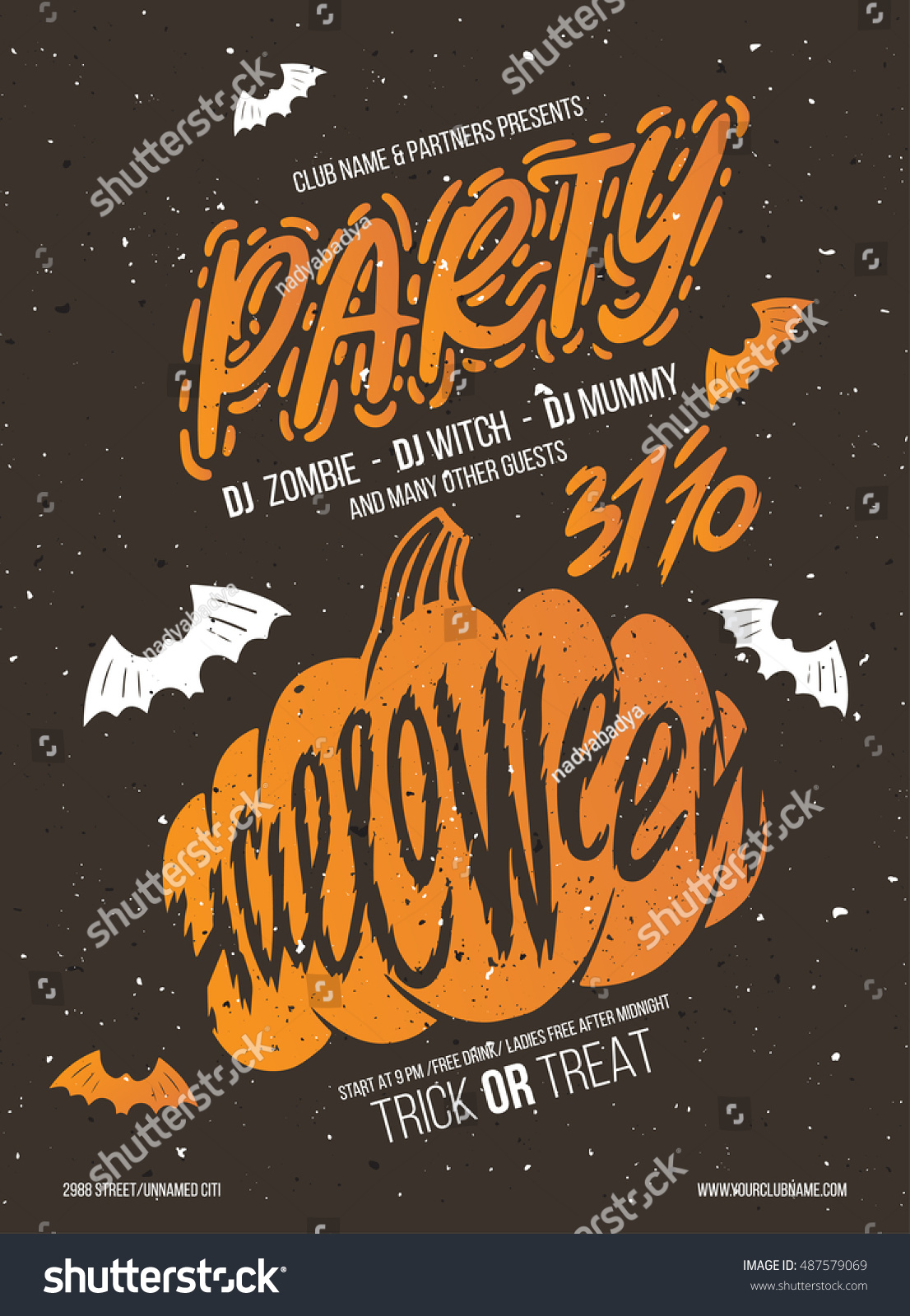 halloween party halloween elements your design stock vector halloween party halloween elements your design stock vector - Names For A Halloween Party