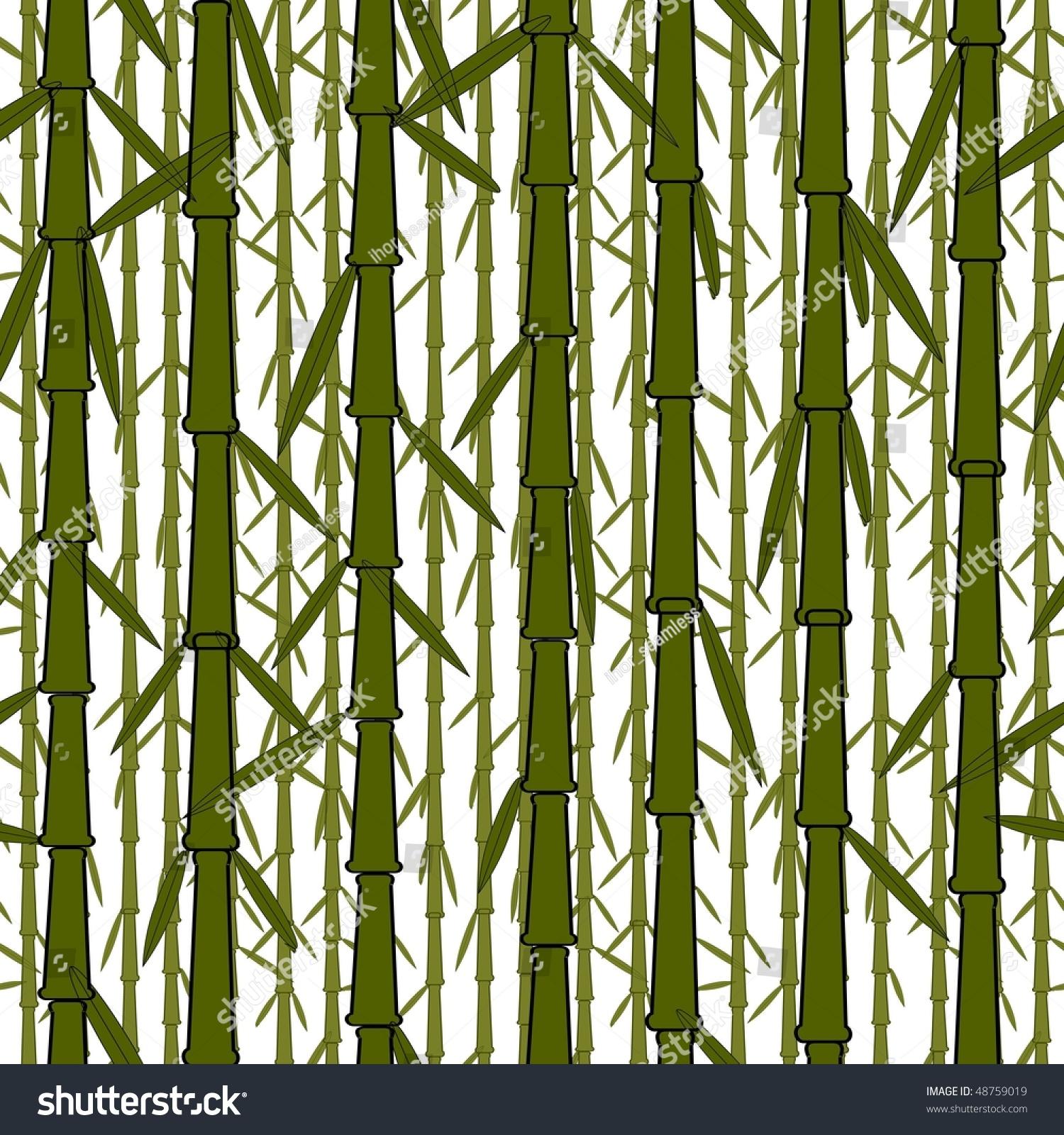 Seamless Wallpaper Chinese Bamboo Trees Stock Illustration 48759019