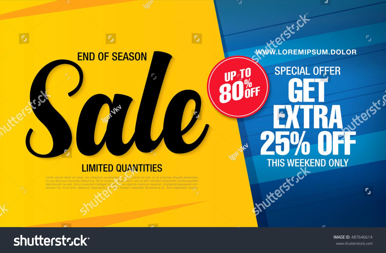 sale banner template design のベクター画像素材 ロイヤリティフリー