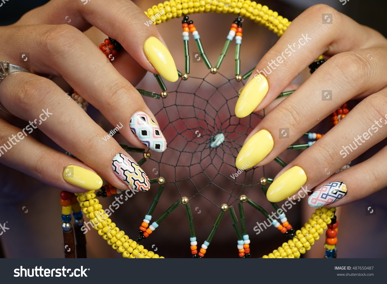 Natural Nails Beautiful Nail Art You Stock Photo (Edit Now ...