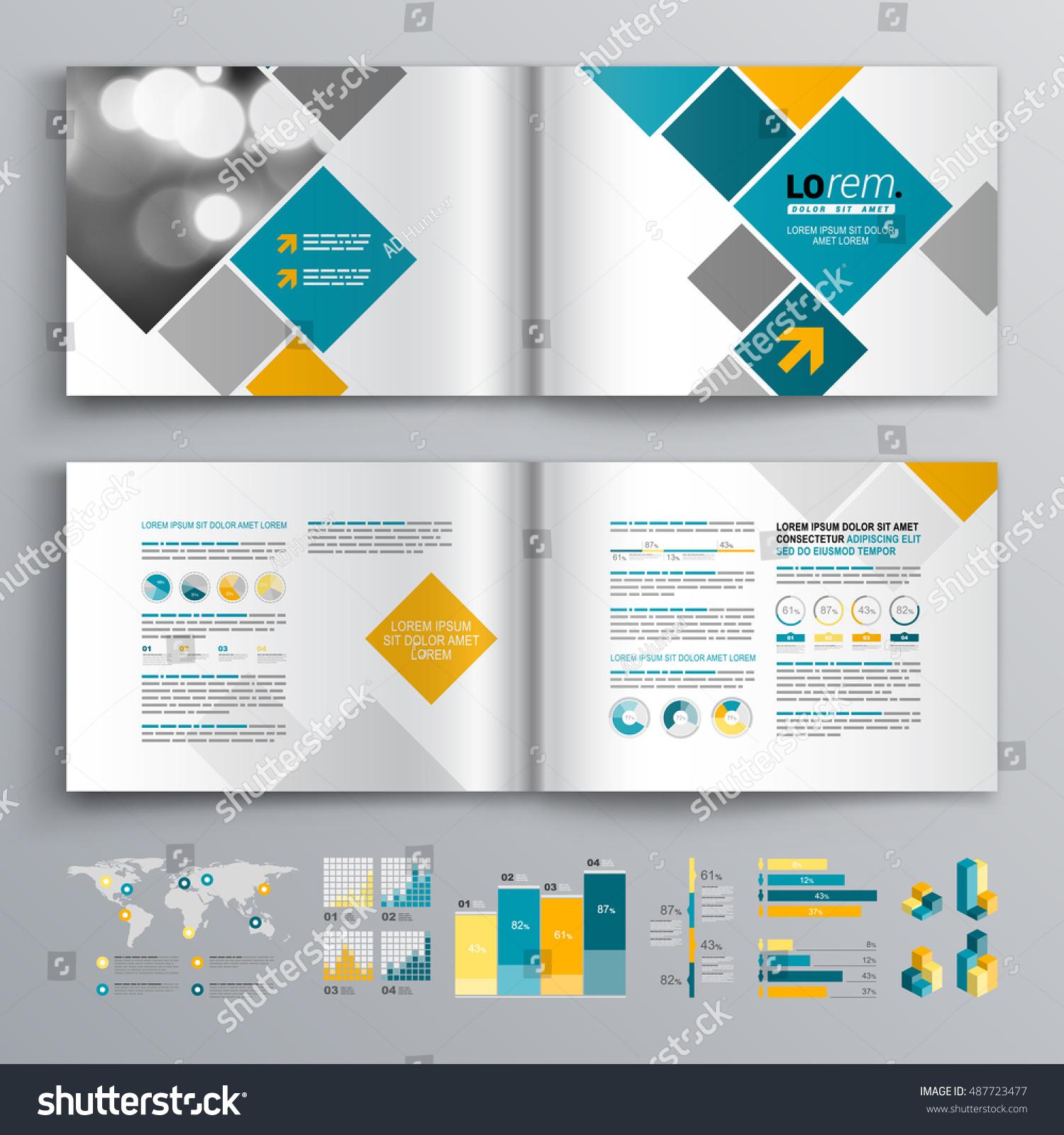 White Business Brochure Template Design Blue Stock Vector 487723477 ...