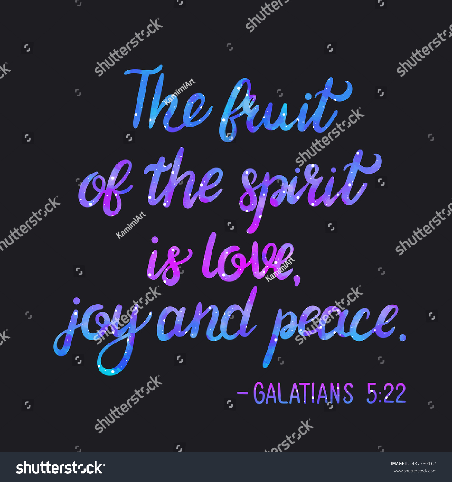 Bible Quotes About Peace Bible Verse Fruit Spirit Love Joy Stock Vector 487736167