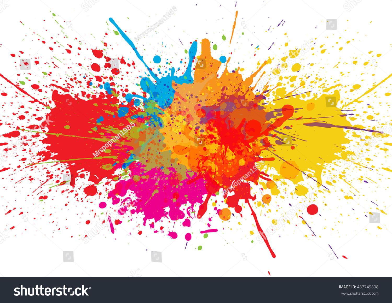 Vector splatter color background illustration vector for Th background color