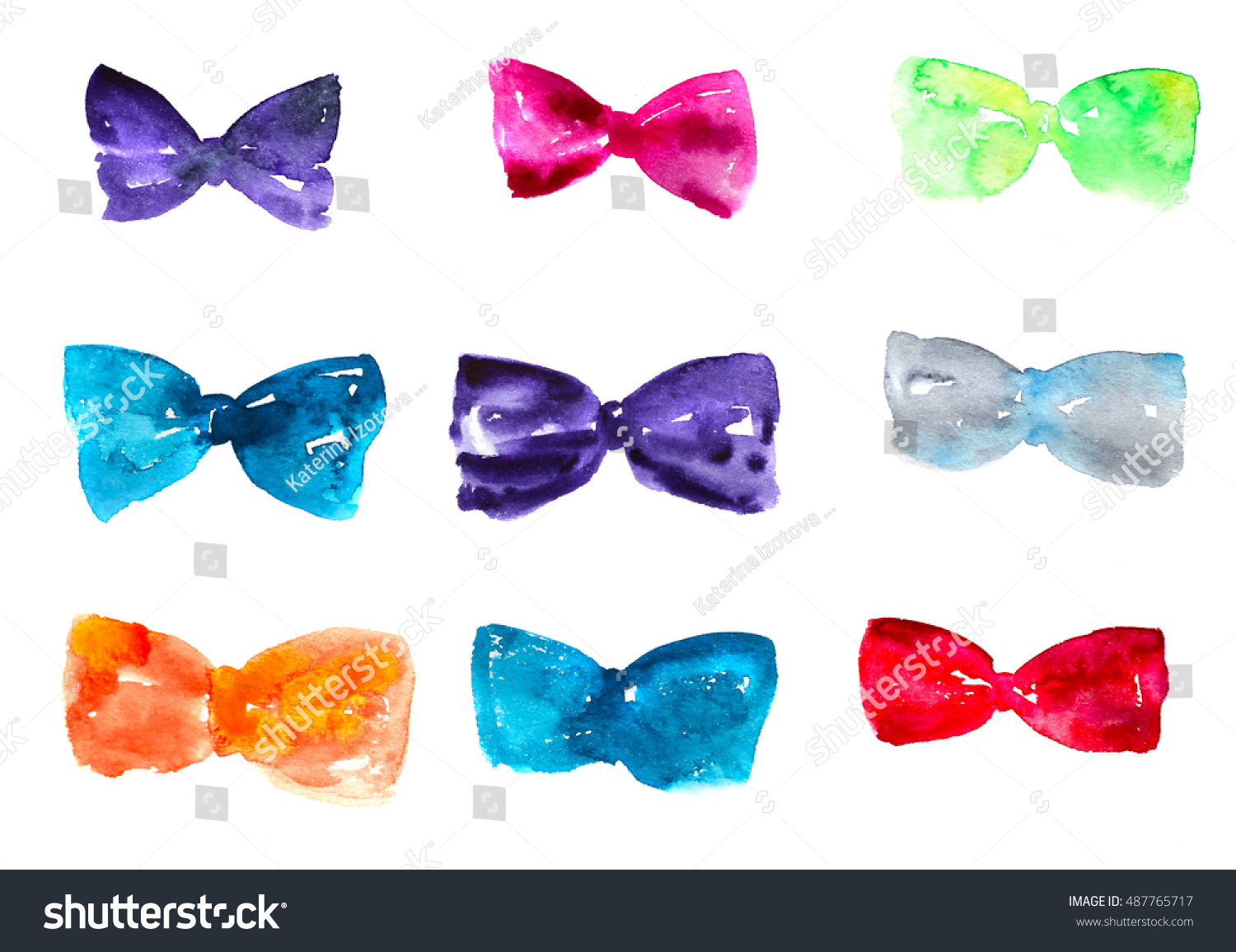 Hand Painted Silk Bow Ties