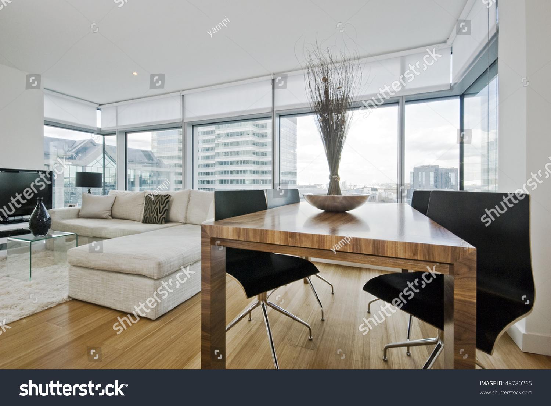 massive luxury living room floor ceiling stock photo 48780265
