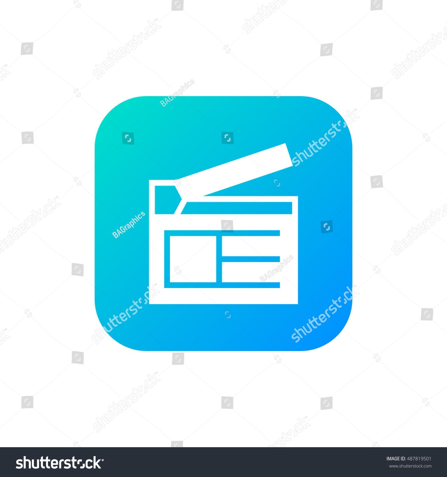 clapperboard icon vector clip art useful stock vector 2018 rh shutterstock com Thanks Clip Art Wizard Clip Art