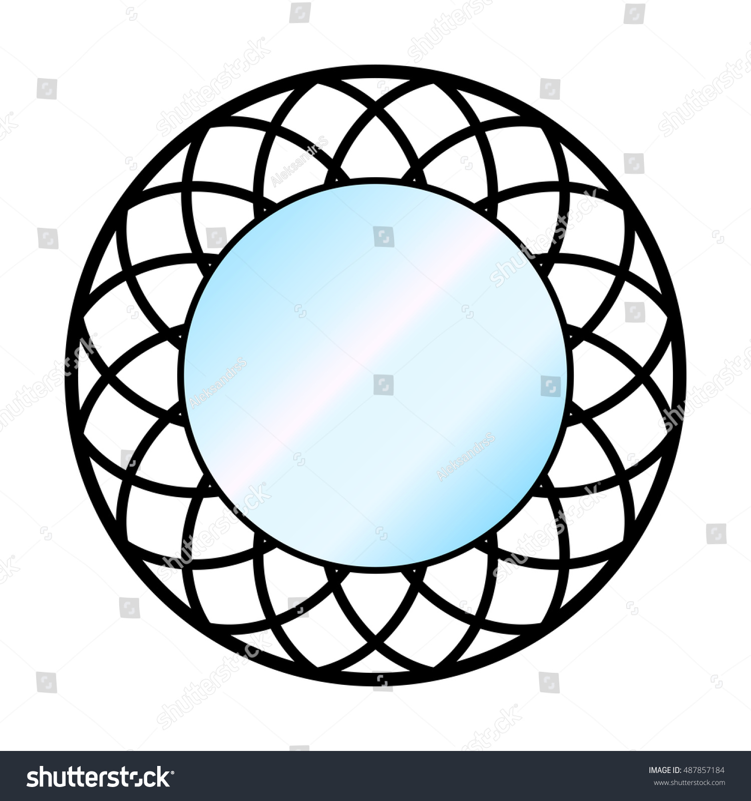 Mirrors on a wall gallery home wall decoration ideas vector illustration wall circle mirror on stock vector 487857184 vector illustration of a wall circle mirror amipublicfo Gallery
