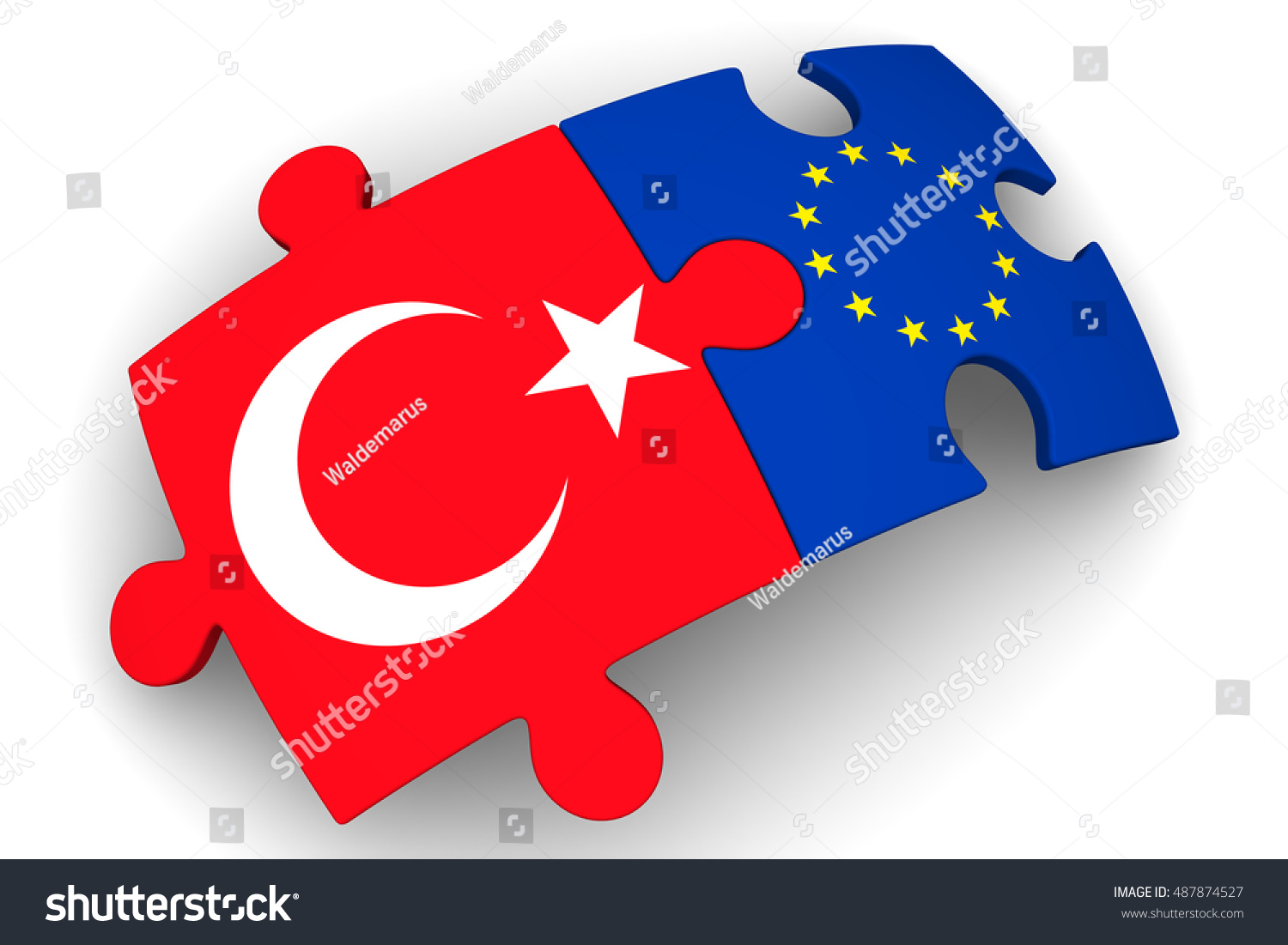 Uncategorized Turkey Puzzles cooperation between european union turkey puzzles stock the and with flags of union
