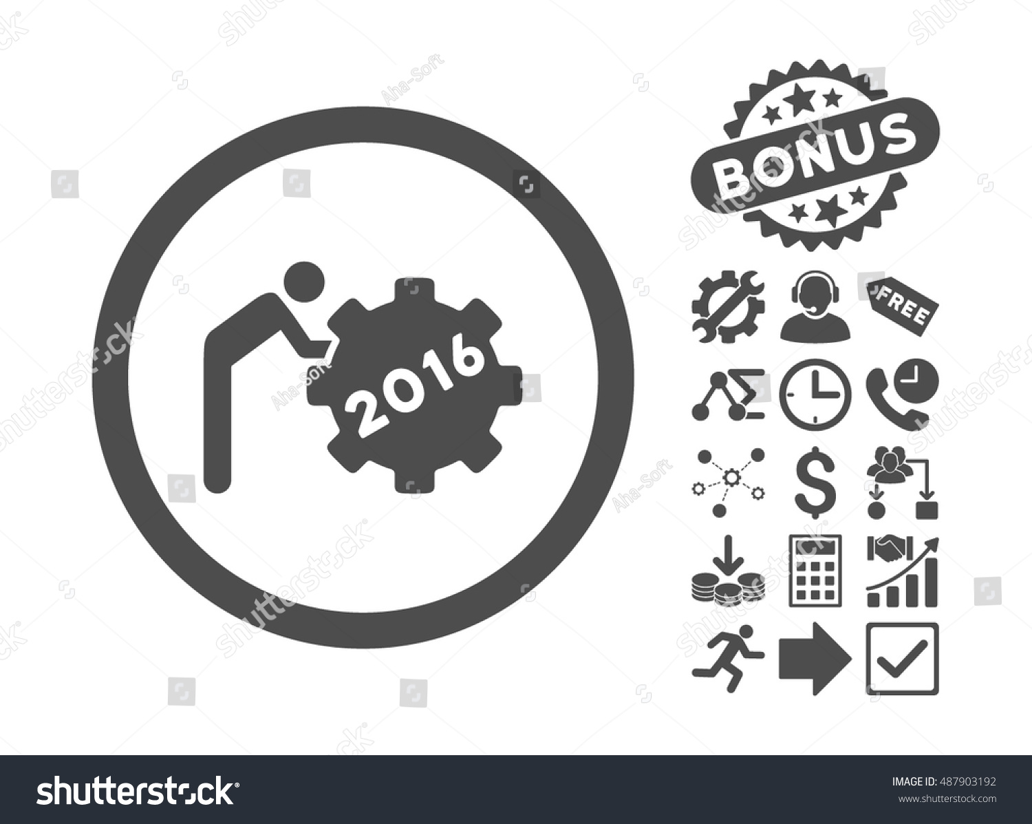 2016 working man icon bonus images stock vector 487903192 2016 working man icon with bonus images vector illustration style is flat iconic symbols biocorpaavc Images