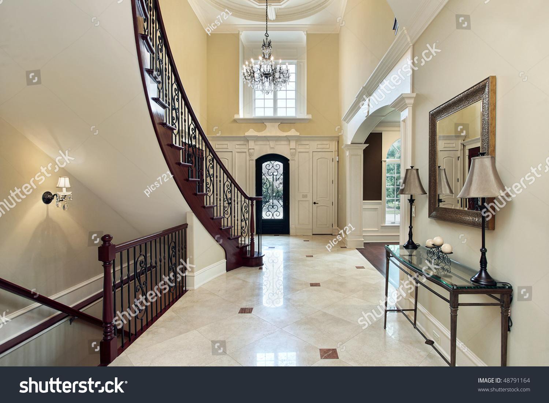 Foyer Window Price : Foyer in luxury home with second floor window stock photo