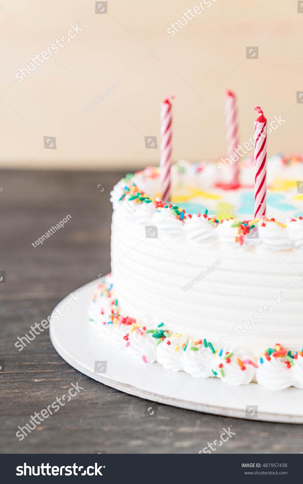 Happy Birthday Cake On Table Stock Photo Edit Now 487957438