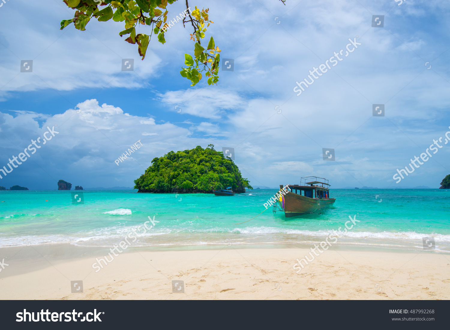 Long Tail Boats Unseen Beach Tub Stock Photo (Edit Now)- Shutterstock