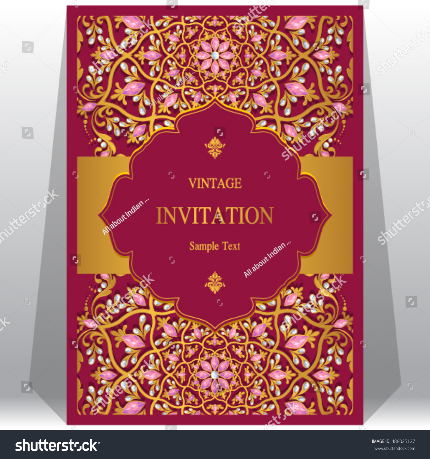 Wedding invitation or card with abstract background. | EZ Canvas