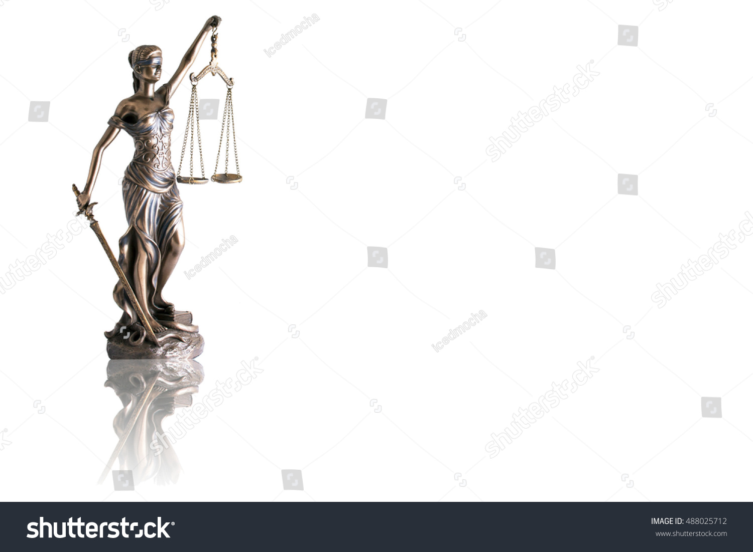 Lady justice themis reflection isolated on stock photo 488025712 lady justice or themis with reflection isolated on white background and space for text buycottarizona